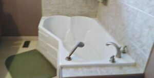 2 person Whirlpool Acrylic, Therapeutic Air Jet Bathtub