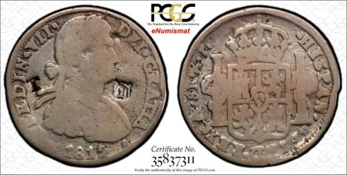 MEXICO War Of Independence CHIHUAHUA 1812 CA RP 8 Reales PCGS VG 8 C/M