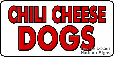 Choose Your Size Chili Cheese Dogs Decal Concession Food Truck Vinyl Sticker