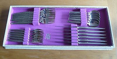 WMF - Paris - 6 x Messer Gabeln Kuchengabeln Teelöffel - 800er Silber - 24 Teile