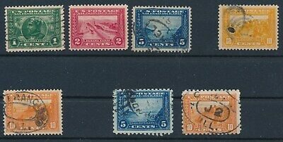 US (1913) PAN AMERICANS: 6 USED/1 MH; #397-400, #400A, #403, #404; CV $155