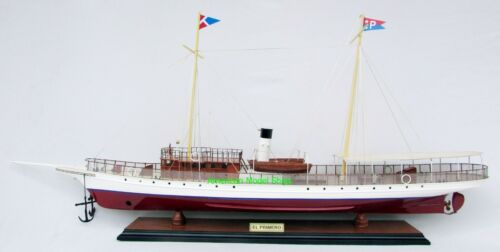 "El Primero Steam Yacht  Model 35"" Handcrafted Wooden Ship Model NEW"