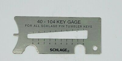 Schlage 4-in-1 Key Gauge Decoder Clip Remover Pin Depressor - Locksmith Tool
