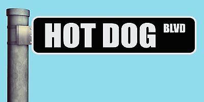 Hot Dog Blvd Street Sign Boulevard Heavy Duty Aluminum Road Sign 17 X 4