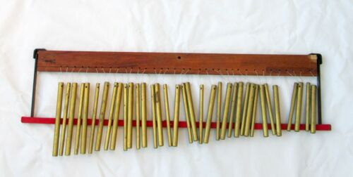 CA. NOMAD PERCUSSION VINTAGE  WIND CHIMES w MUTE BAR  35 HOLLOW TUBES MARK TREE