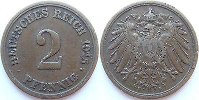 TOP! 2 Pf 1915 F in fast SEHR SCHÖN !!!
