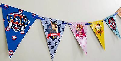 🐶 PAW PATROL Banner Bunting Flag. Room Decoration Party Supplies Lolly Loot Bag