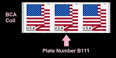 US Flag forever PNC3 BCA B111 MNH 2018