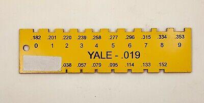 Locksmith Pin Gauge For Yale