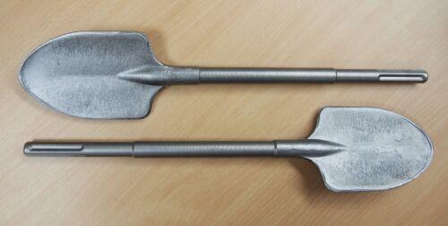 "Lot of (2) SDS-Max Clay Spade Shovel 4-1/4"" x 19-1/2"" Demolition Jack Hammer"