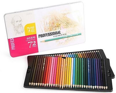 Best Colored Pencils-72 Coloring Pencil Set With Case Professional Artist