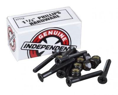 "Independent Skateboard Hardware Indy PHILLIPS Skate Bolts 1.5"" + Free Sticker"