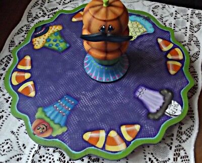 halloween decor,cupcake plate, centerpiece, halloween plate