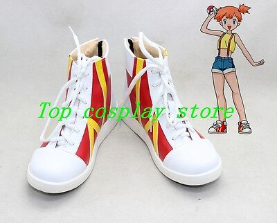 Pokemon Pocket Monster Digital Monster Misty Cosplay Shoes boots Version B #PP02 - Misty Cosplay Shoes