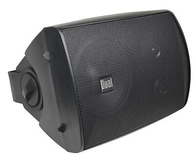 Dual LU53PB 125-Watt Three-Way Speakers, Indoor/Outdoor Pair of Two in Black