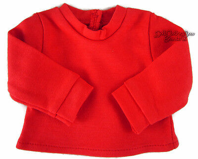 """Red Long Sleeve T-Shirt Winter Turtleneck for 18"""" American Girl Doll Clothes"""