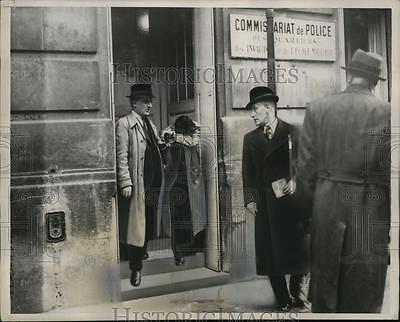 1938 Press Photo Herschel FirpelGrynszpan lead from Paris police station