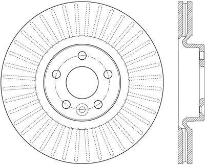 Disc Brake Rotor-High Carbon Alloy Brake Disc-Preferred fits 16-17 Volvo XC60