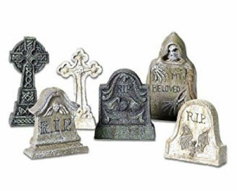 Department 56 Halloween Village Tombstone Accessory MINI Figurines Set 5653065