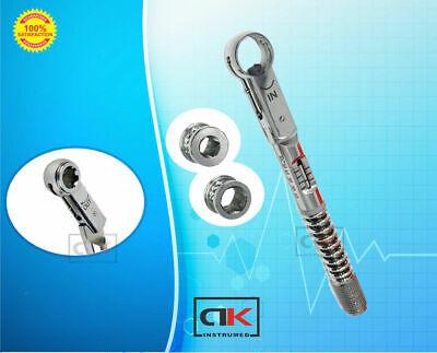 Universal Dental Implant Torque Wrench Ratchet 1040 Ncm 6.35 Mm Hex 4.0 Mm