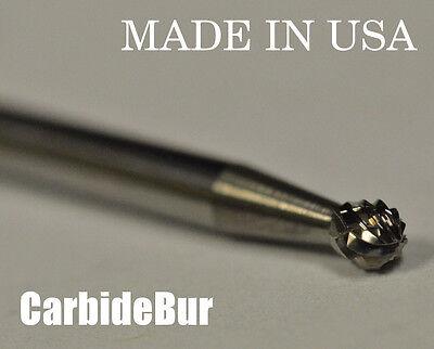 "NEW 1/8"" Ball Shape SOLID Carbide Bur Tool Bit for Die Grinder SD-42 DBL"