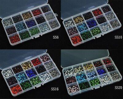 Hot Fix Iron On Rhinestones Box Sets (SS6 / SS10 /SS16 / SS20) - US Warehouse - Bead Sets