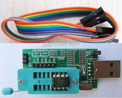 USB Port 24CXX 25XX EEPROM BIOS Programmer TTL 24C1024 W25Q128 For