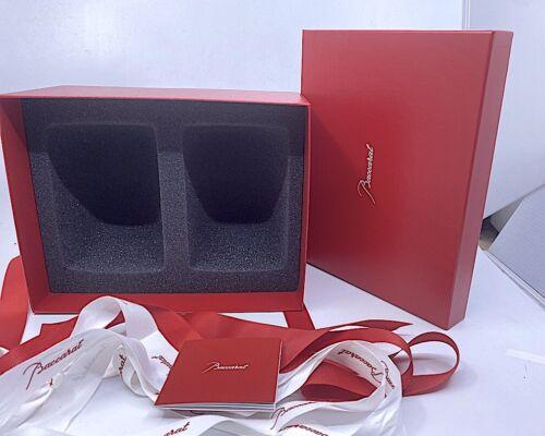 RED BACCARAT HARMONIE TUMBLER EMPTY BOX FOAM INSET RIBBON 1845261