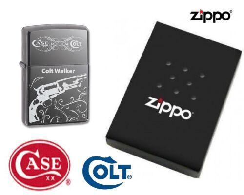 Rare Case COLT Zippo Lighter Colt Walker Black Ice Chrome