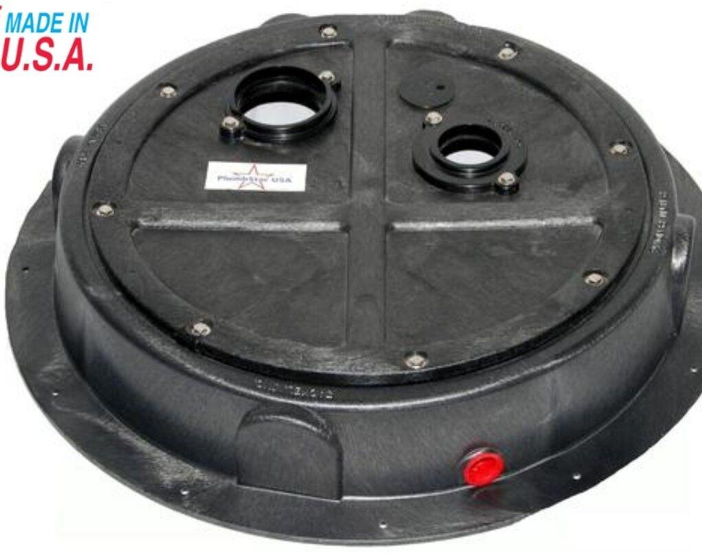 Radon Gas Sump Dome Pit Sealed Drain Lid Sewage Basin Cover