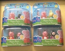 Peppa pig & friend theme park figures twin pack