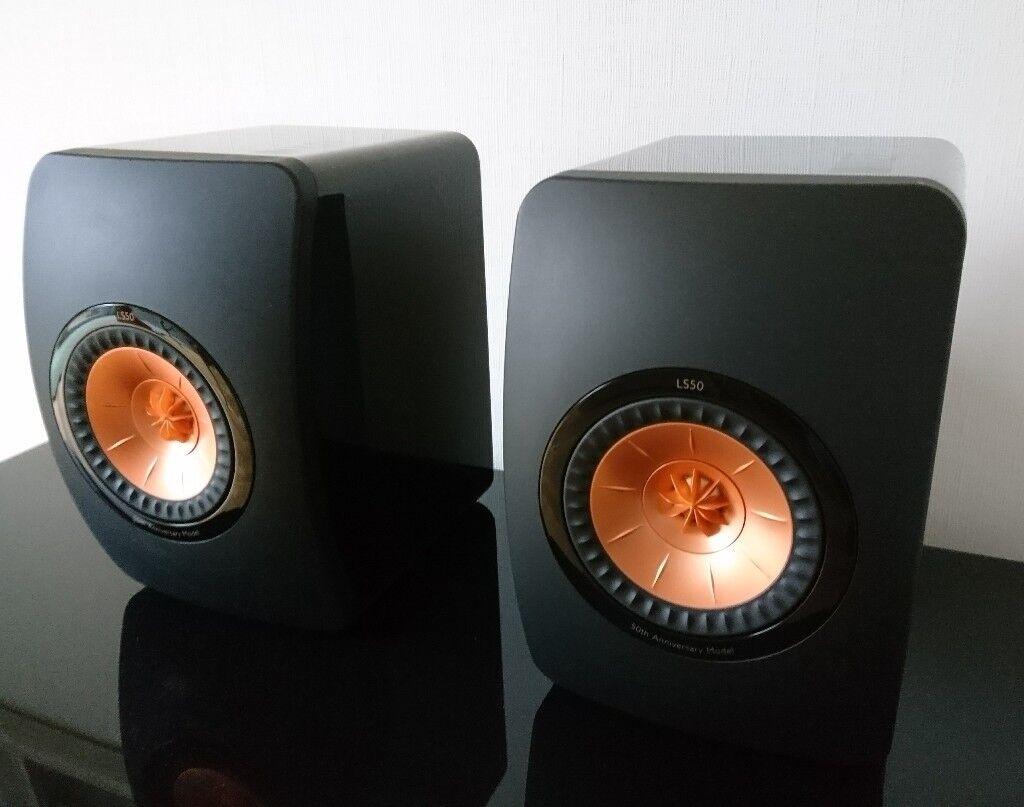 kef ls50 anniversary speakers piano black in hove east sussex gumtree. Black Bedroom Furniture Sets. Home Design Ideas