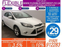 2012 FORD FOCUS 1.0 ECOBOOST ZETEC GOOD / BAD CREDIT CAR FINANCE FROM 29 P/WK
