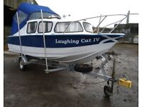 Boat - Microplus 16 cruiser, outboard and trailer.