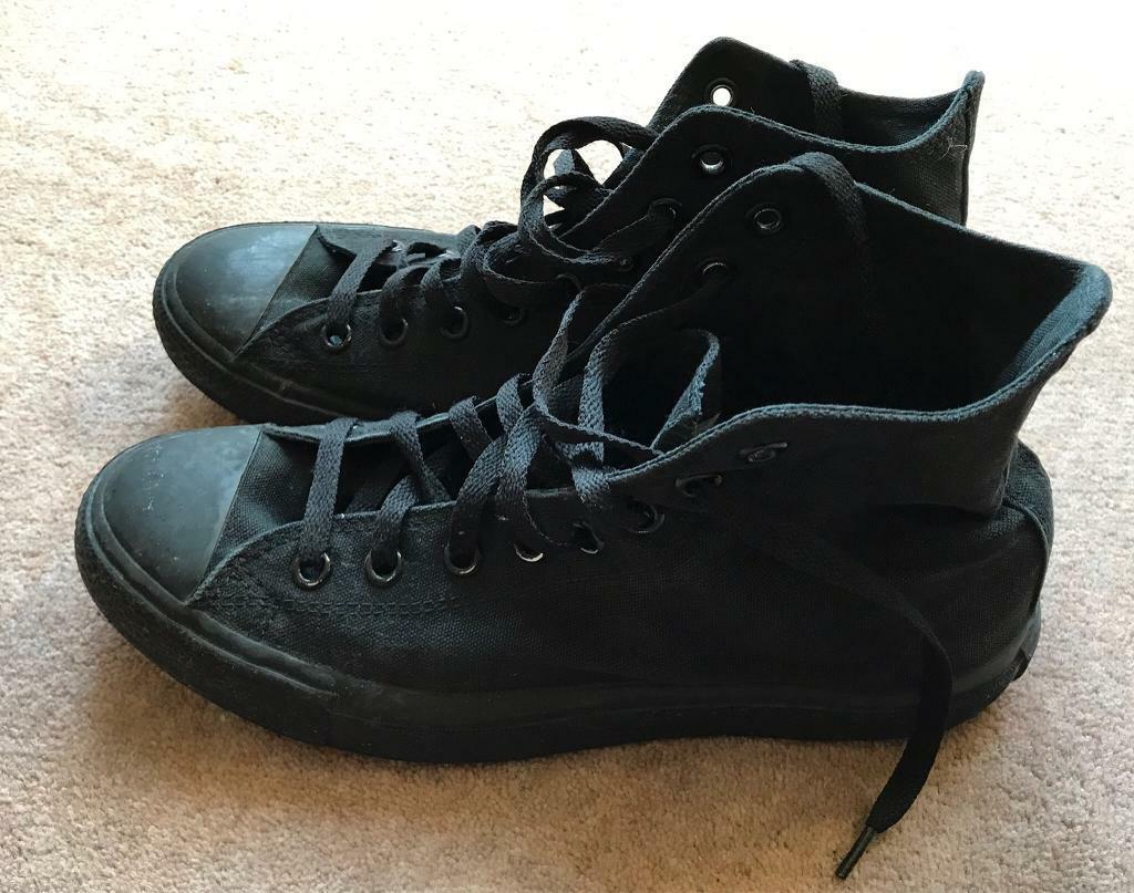 7fb79096ea64 REDUCED! Converse unisex Chuck Taylor Classic All Star Black High Top  Canvas Trainers