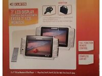 """7"""" LCD Display Portable DVD Player with Extra Monitor with Complete Car Kit - Excellent Condition"""