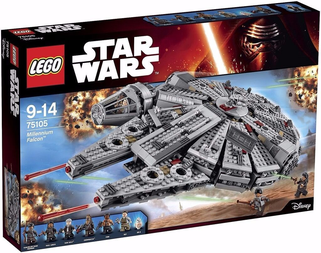 Star Wars Lego - NEW - Millennium Falcon & Carbon Freeze Chamber