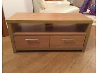 Oak veneer tv unit