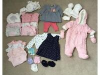 Newborn & up to 1 month baby girls bundle