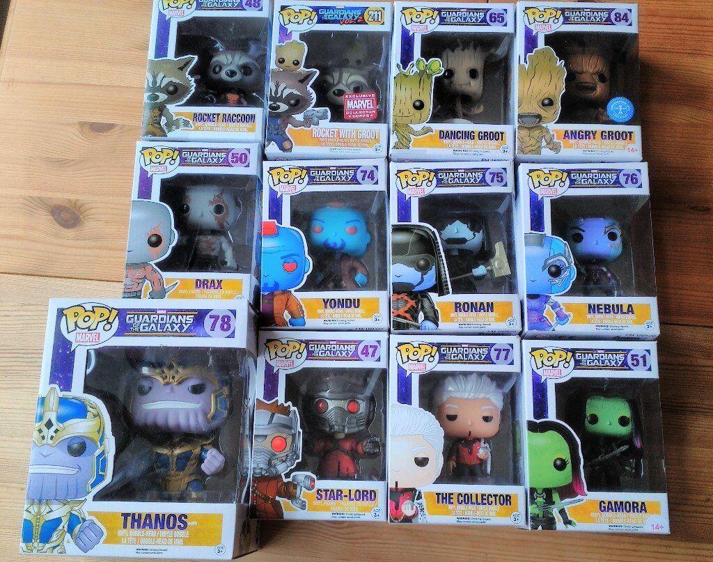 Funko Pop Vinyl Figures Guardians of the Galaxy Groot, Rocket, Yondu, Nebula, Drax, Ronan, Gamora...