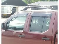 used nissan navara d40 window deflectors