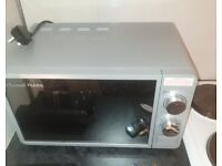 Silver russell hobbs microwave for sale