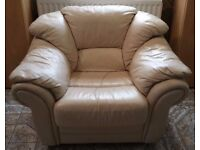 Lovely Cream Leather Armchairs