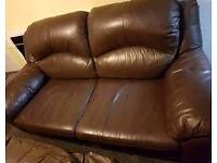 2 & 3 Seater leather sofas for sale