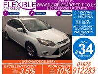 2014 FORD FOCUS 1.6 TDCI ZETEC NAVIGATOR GOOD / BAD CREDIT CAR FINANCE 34 P/WK
