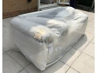 *NEW* Harveys Light Grey 3 Seater Sofa & Matching Footstool