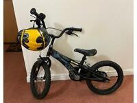 Kids Batman bike with matching helmet & bell