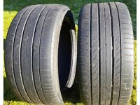 2 x CONTINENTAL Contact Sport 5. 245/40/17 . tyres part worn