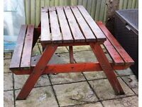Picnic Table - Real Wood