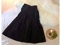 Smart Long Black Skirt | SIZE 10